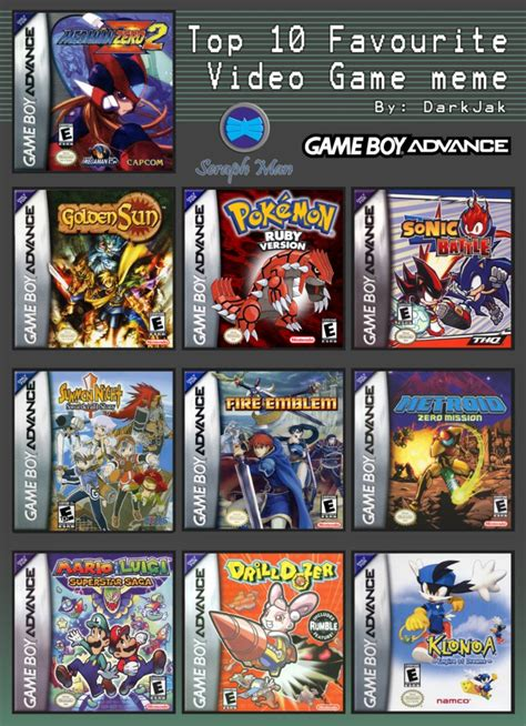 gba best top 10 gameboy advance by shadow on deviantart