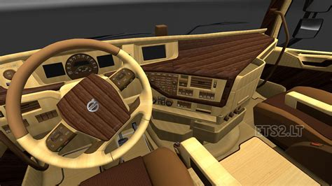 volvo 2012 black orange interior ets 2 mods volvo 2012 wood interior ets 2 mods