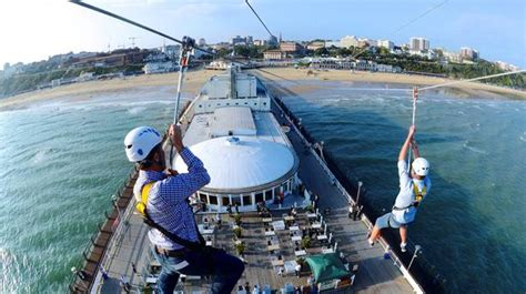pier zip wire fly along the world s first pier to shore zip wire