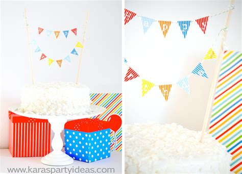 Kara S Party Ideas Free Download Party Planning Timeline Mini Cake Pennant Flags Kara S Mini Cake Banner Template