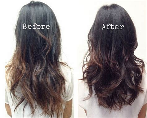 before and after images of ponytail haircuts hairstyle to make mt look longer hairstyles that make
