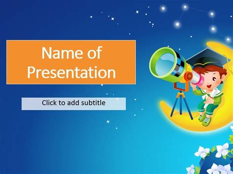 a funny hamster free kids powerpoint templates