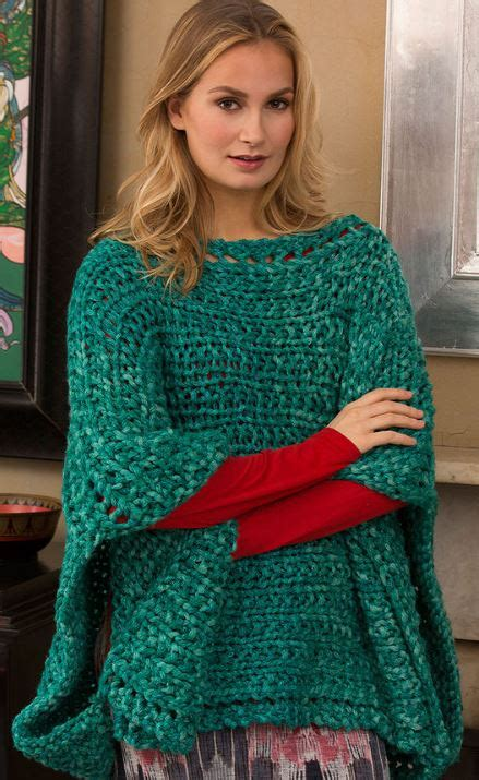 boat neck poncho modern poncho knitting patterns in the loop knitting