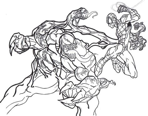 Free Coloring Pages Of Marvel Venom Marvel Coloring Page