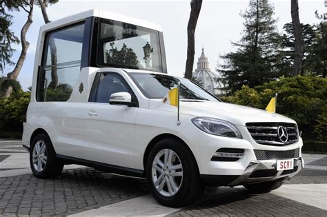 pope mobile popemobile mercedes m class delivered to benedict xvi