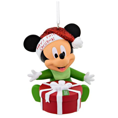 hallmark disney mickey mouse baby s 1st christmas ornament