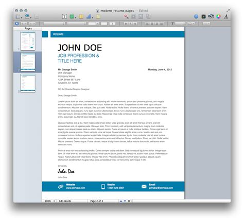 fantastic free modern resume templates cv templates for apple choice image certificate design