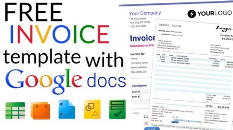 Free Invoice Template How To Create An Invoice Using Google Docs Invoice Template Youtube Docs Templates