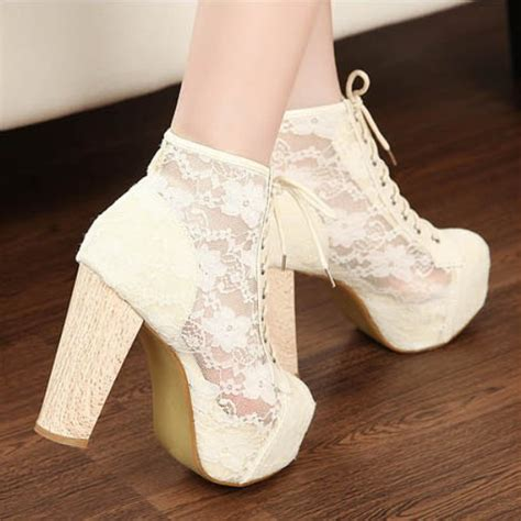 gorgeous high heels gorgeous womens see through lace high heels platforms