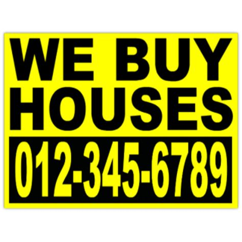 buy house signs investor we buy houses bandit sign yard signs
