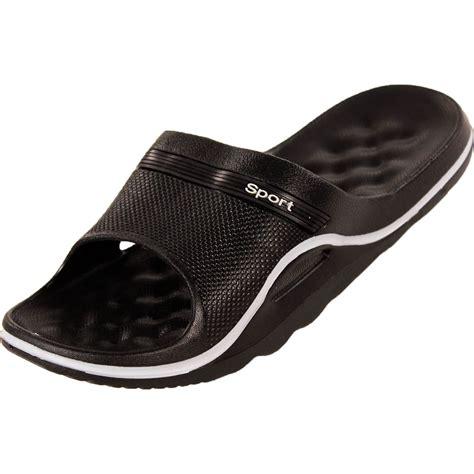 shower shoes mens slip on sandals sport slide shower shoes