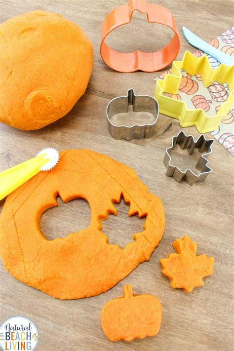 pumpkin playdough recipe   pumpkin pie play dough natural beach living