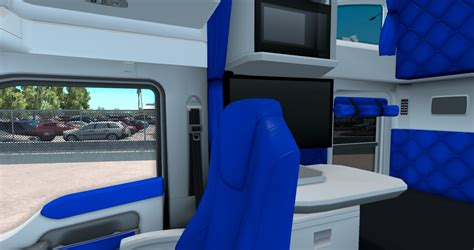 kenworth truck interior white and blue interior for kenworth t680 american truck