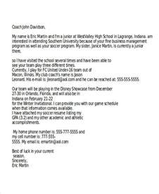 College Coach Follow Up Letter How To Write Letters College Coaches Docoments Ojazlink