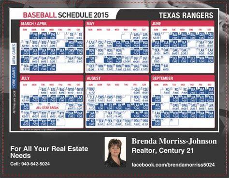 printable schedule texas rangers 1000 ideas about rangers baseball schedule on pinterest