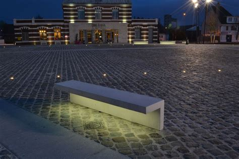 led lights in concrete led line concrete bench with integral led lighting