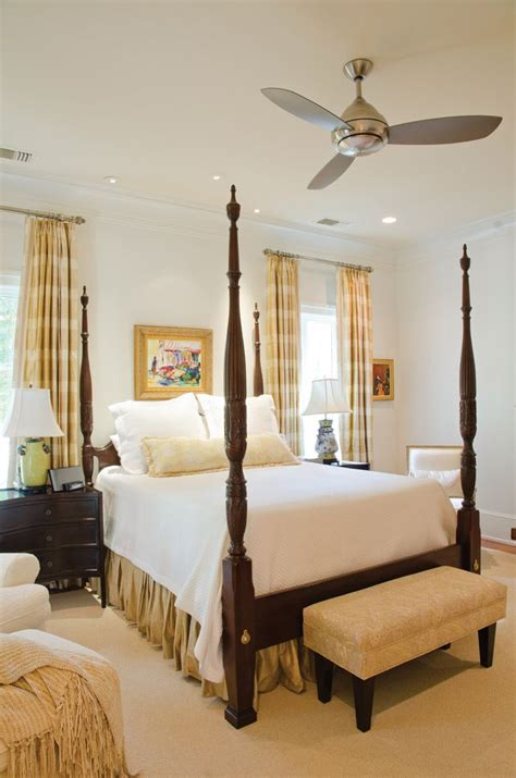 four bedroom classic four poster bed with white linens neutral master bedroom bed bath