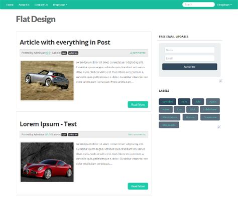 design blogger flat ui blogger template flat design approach in blogger