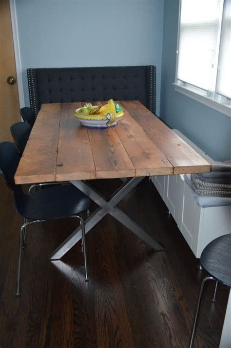 diy table legs buy diy buy metal legs from trrtry on etsy and make a reclaimed wood tabletop to get a custom