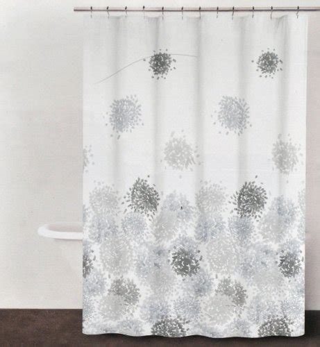 periwinkle shower curtain dkny brushstroke floral periwinkle gray brown fabric