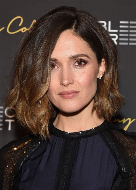 rose byrne asymmetrical cut shoulder length hairstyles