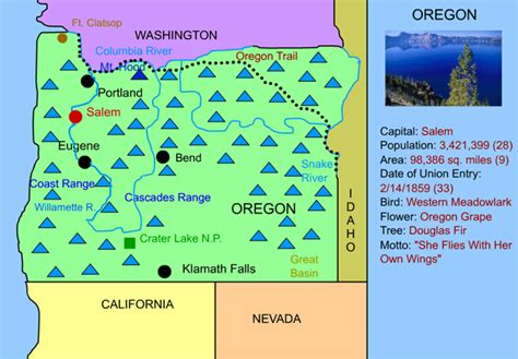 interactive map of oregon oregon interactive map facts statistics and