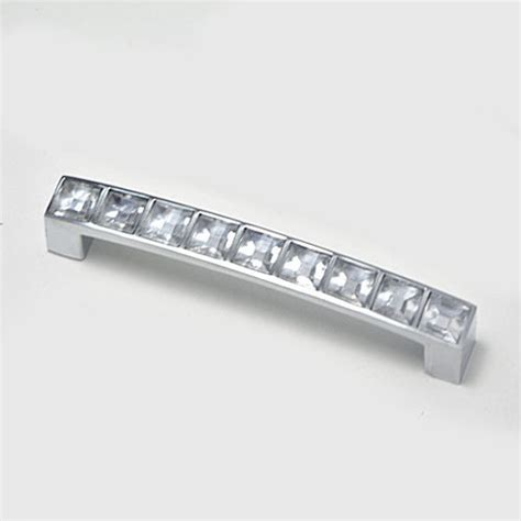 Crystal Cabinet Hardware 96mm Crystal Handle And Knobs Crystal Drawer Pull