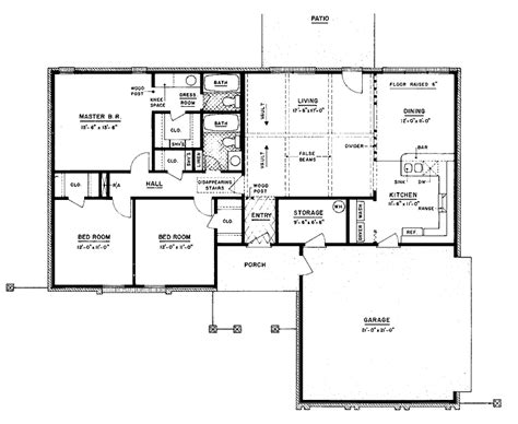 ranch style house plan 3 beds 2 baths 1700 sq ft plan 301 moved permanently