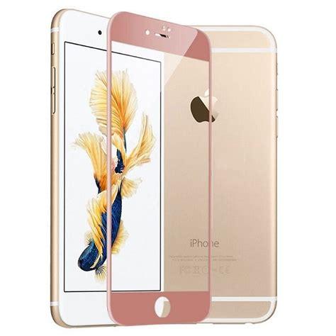 rose gold tempered glass protector  iphone   full