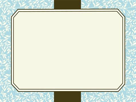 Motif Frames Backgrounds Blue Border Frames Brown Grey Yellow Templates Free Ppt Powerpoint Border Templates