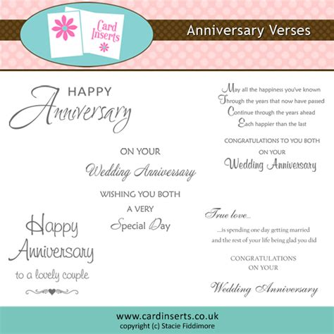 Wedding Anniversary Card Inserts anniversary card quotes quotesgram