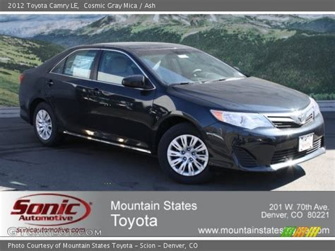 Toyota Camry Cosmic Gray Mica Cosmic Gray Mica 2012 Toyota Camry Le Ash Interior