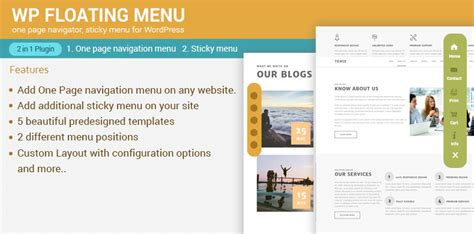break your wordpress theme menus free from their one page navigator sticky menu for wordpress wp