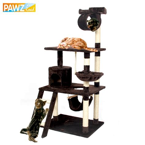 Cat Tree Big 10 Istana Kucing Cat Castle fast delivery h154 cat climbing toys scratching solid wood for cats climbing frame more climbing