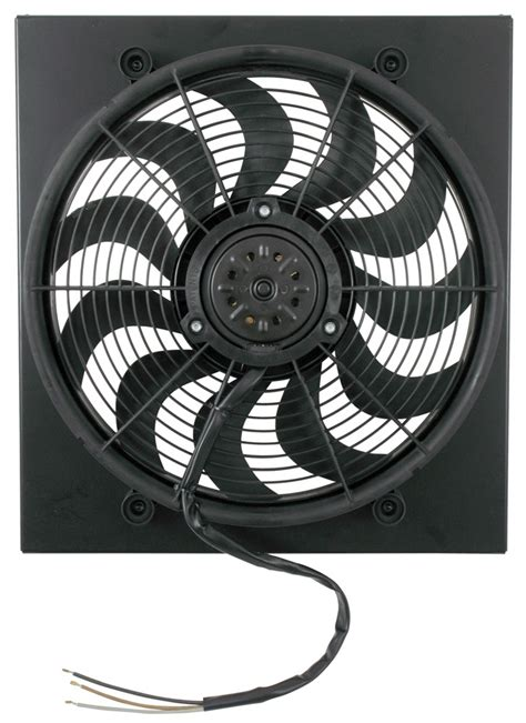 high cfm electric radiator fans ford f 150 derale 17 quot high output electric radiator fan