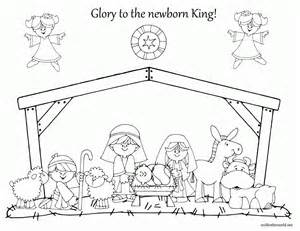 nativity coloring pages free nativity coloring pages printable coloring home