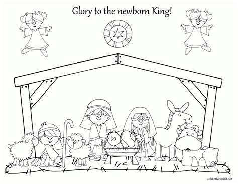 Free Nativity Coloring Pages Printable Coloring Home Coloring Pages Nativity Free Printable