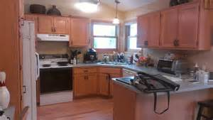 Golden Oak Kitchen Cabinets Golden Oak Cabinets No More Before Painterati Painterati