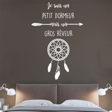 petit dormeur sticker citation je suis un petit dormeur attrape r 234 ve