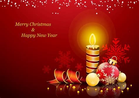 merry christmas and happy new year card wallpaper