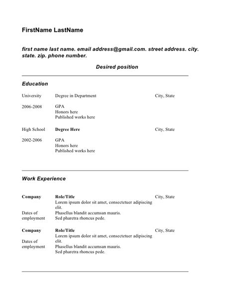 Copy Resume Exles by Copy Of Resume Student Theme