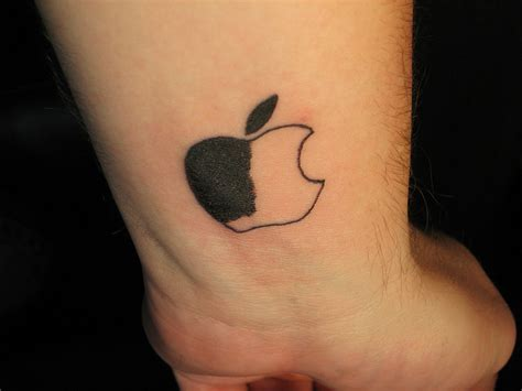 black and white wrist tattoos black n white apple logo on wrist tattooshunt