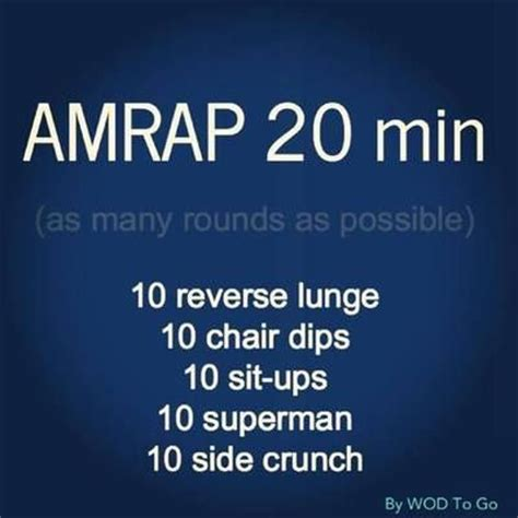 amrap 20 min crossfit wod at home workouts