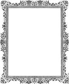 Edwardian Cornice Decorative Clip Art Victorian Border Black And White