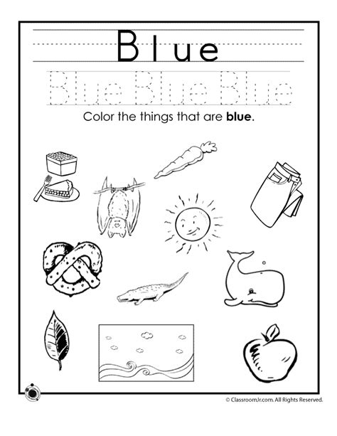 Toddler Learning Worksheets by Learning Colors Worksheets For Preschoolers Color Blue