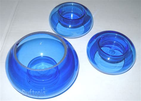 glas kerzenhalter set kerzenhalter aus glas kerzen blue glass candle holders