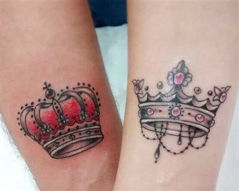 his and her king and queen tattoos crown tattoos designs ideas and meaning tattoos