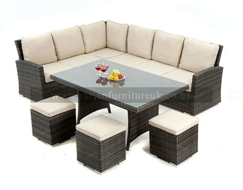 outdoor sofa dining set 17 best images about rattan garden dining sets on