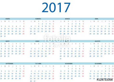 Calendario Espanol Quot Calendario 2017 En Espa 241 Ol Quot Stock Image And Royalty Free
