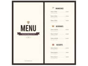 Menu Template by 8 Menu Templates Excel Pdf Formats